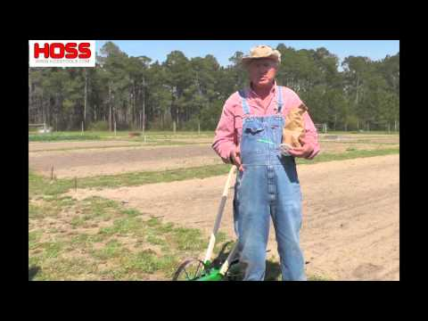 Planting Field Corn with the Hoss Garden Seeder