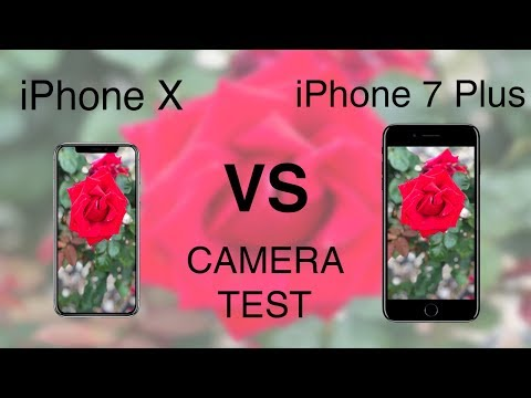 iPhone X vs iPhone 7 Plus CAMERA TEST!