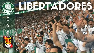 PALMEIRAS 3 x 0 MELGAR - TORCIDA EM FESTA - LIBERTADORES 2019