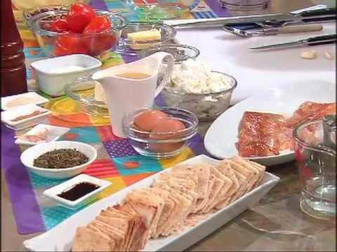 Receta: Mousse de trucha ahumada y Casabe con tomate horneado y queso de cabra 17/11/2011