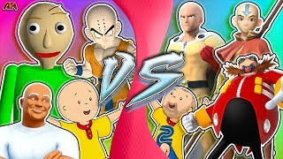 BALDI vs EVERYONE BALD! (Bald Free for All | Baldi's Basics Animation Meme) CARTOON FIGHT CLUB