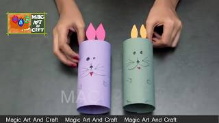 Diy How to Make a Paper Rabbit ,Magic art and craft Diy