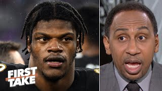 Stephen A. reacts to suspended broadcaster's Lamar Jackson comments: 'It was stupid!' | First Take