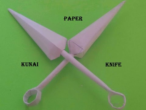 How to make a Paper Kunai Knife - (Naruto kunai) - Step by Step