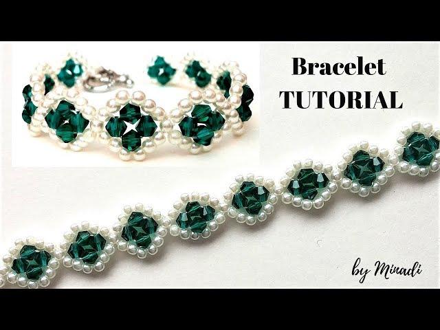 Jewelry making tutorial. Beading pattern. Beaded bracelet, Learn how to bead.