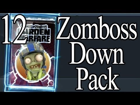 Zomboss Down DLC Plants vs Zombies Garden Warfare Sticker Packs Opening Part 12 German Deutsch