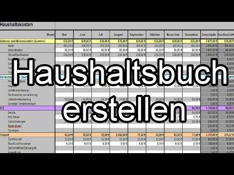 Excel Haushaltsbuch Erstellen - Finanzen Im Blick Behalten [Tutorial ...
