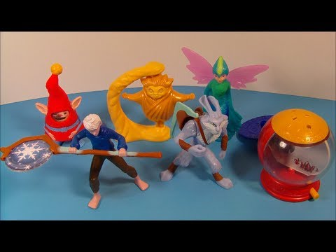 2012 RISE OF THE GUARDIANS SET OF 6 McDONALD'S HAPPY MEAL MOVIE TOY'S VIDEO REVIEW