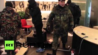 Nationalists wreck Russian bank in Kiev on Maidan anniversary