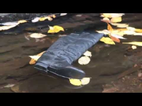 Leather Boots Floating in Mountain Stream part 1