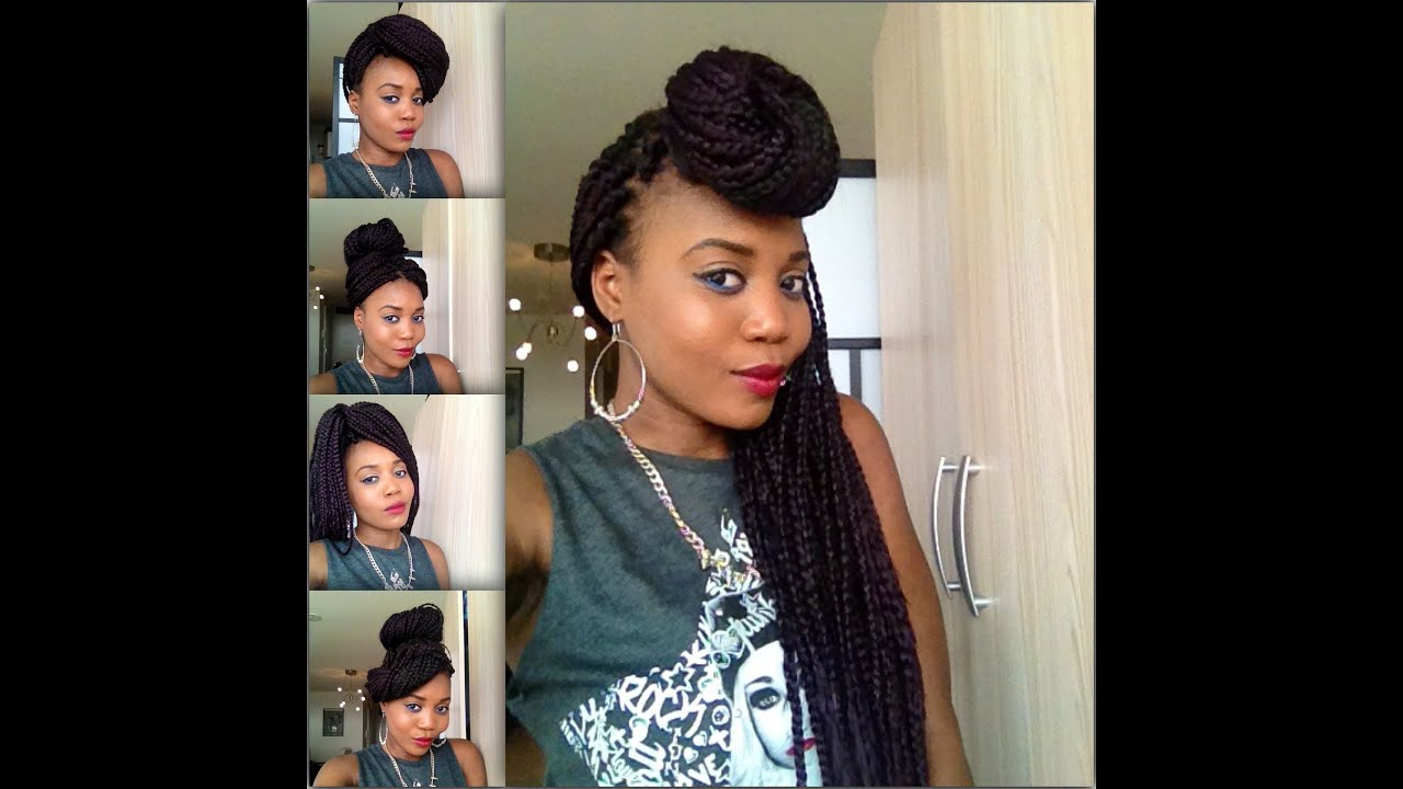How I Style My Boxbraids In 7 Styles Youtube