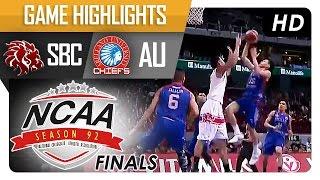 AU vs SBC   Game Highlights   NCAA 92 Finals   October 6, 2016