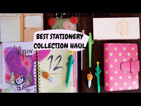 Best Stationery Haul 2019/2018 - My Top 10 Favorite Stationery Collection India - AdityIyer