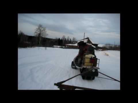 На рыбалку на снегоходе рысь с лифановским двигателем