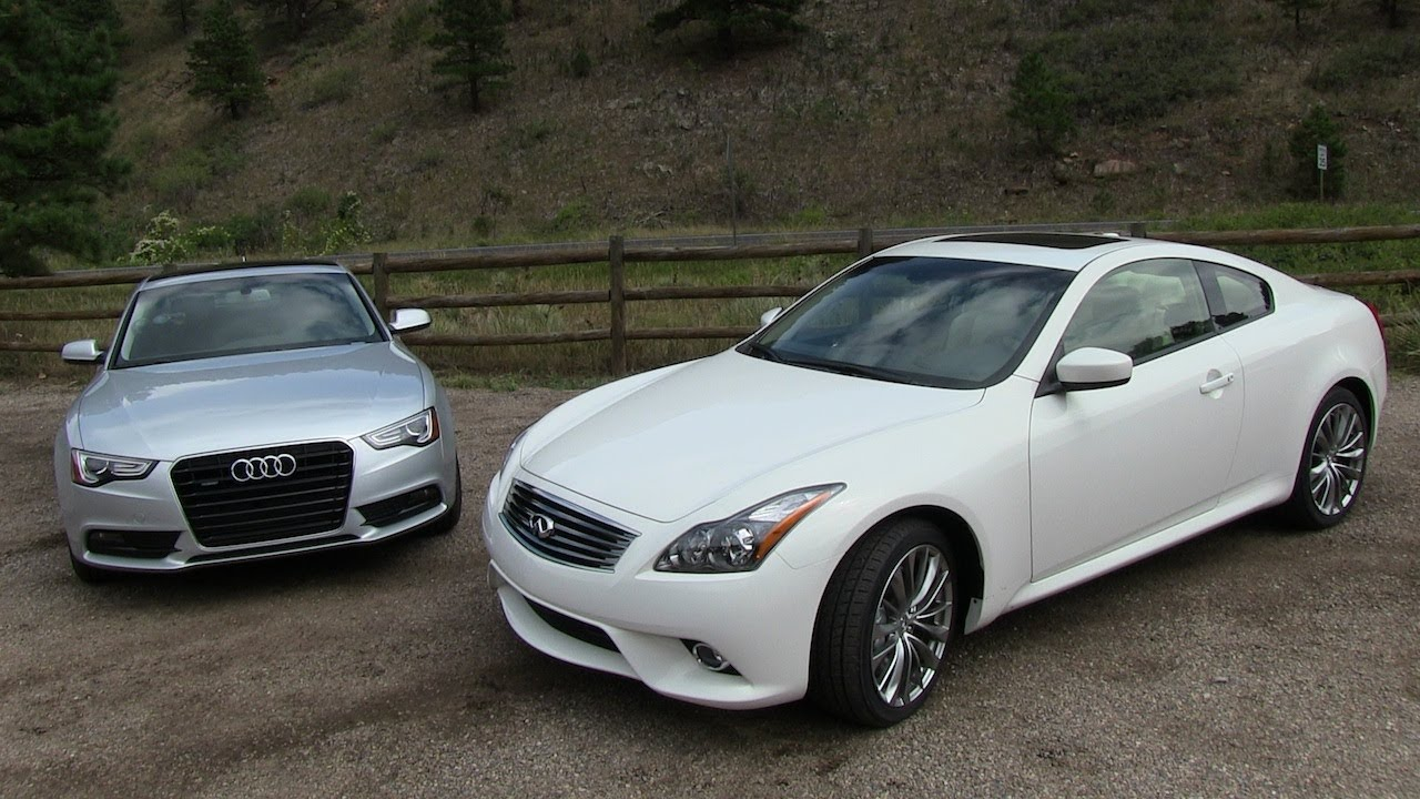 G37 Sedan 0 60 >> 2013 Audi A5 vs Infiniti G37 Coupe 0-60 MPH Mile High Mashup Review - YouTube