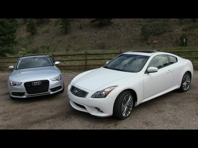 2013 Audi A5 vs Infiniti G37 Coupe 0-60 MPH Mile High ...