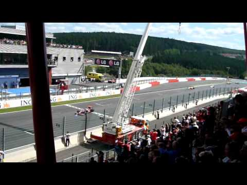 Spa F1 2009 - Live Start from Tribune 1