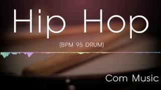 Hip hop drum backing track 95(drum only)