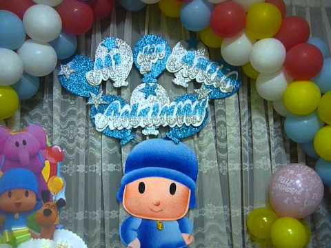 "Eventos Especiales ""DECORACIÓN DE POCOYO"" - YouTube"