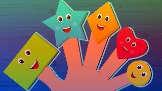 Shapes Finger Family Song - Education For Kids \ CHILDREN VIDEO SONGS