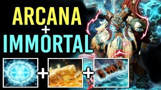 NEW BEST ARCANA Earthshaker + Most Expensive IMMORTAL Epic Effect Gameplay Top Ranked Dota 2