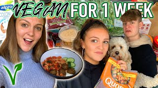 I WENT VEGAN FOR AN ENTIRE WEEK *trying fast food & my honest experience!*