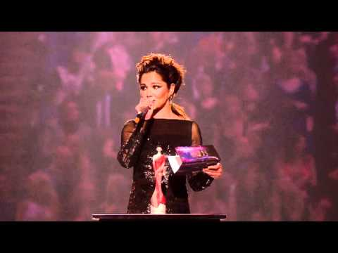 Rihanna wins International Female Solo Artist presented by Cheryl Cole | BRIT Awards 2011