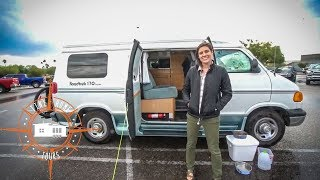Travel Nurse Living In A Van ~ Full Tour & Quick Interview