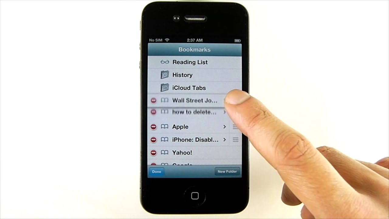 iPhone: Safari Bookmarks