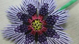 3d Origami - Violet Flower - (how To Make)