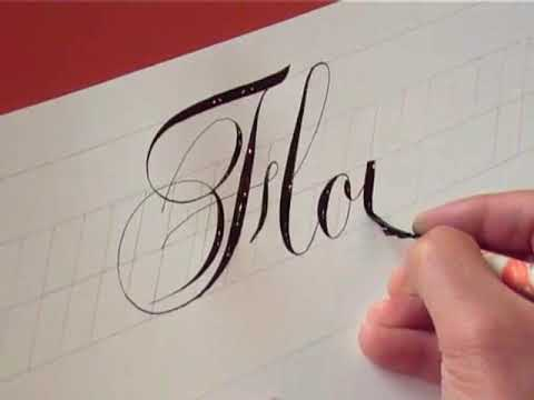 How To Write Copperplate Youtube