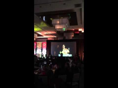 Natalia Denegri se llevó un premio Emmy en Miami