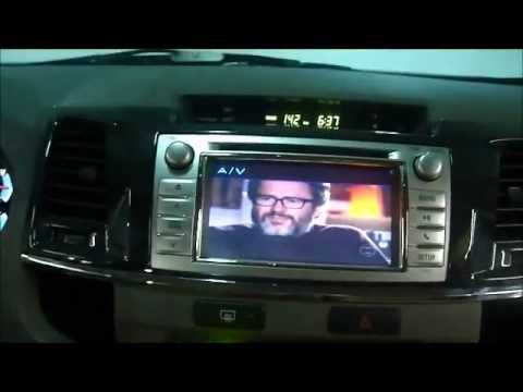 TOYOTA HILUX SW4 2012 GPS / DVD / LEITOR DE DVD / TV DIGITAL / TELAS DE ENCOSTO KROCOKAR