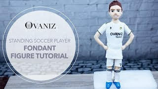 Cake figurines | Soccer cake toppers | Football theme cake | Fondant characters