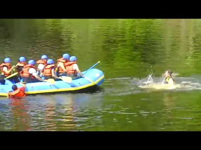 Rafting on the Menominee River in Niagara, WI (2009)