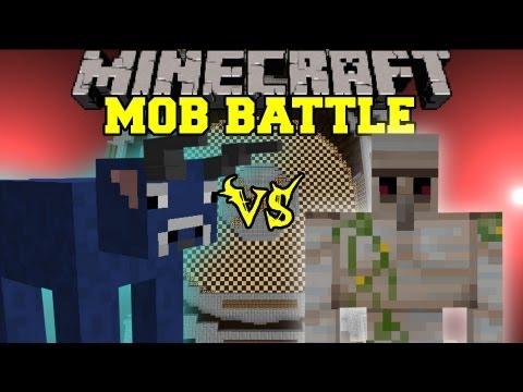 Iron Golem Vs. Bull - Minecraft Mob Battles - Arena Battle
