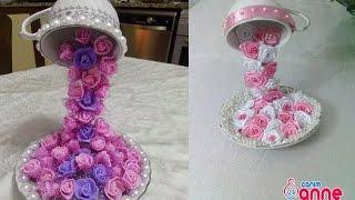 Fincandan Dökülen Çiçek Şelalesi Yapılışı - Kendin Yap, Hobi , Canım Anne