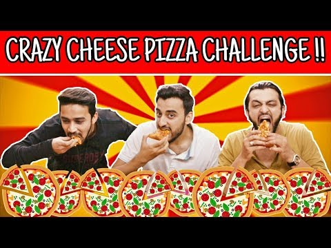 Crazy Cheese Pizza Challenge! l The Baigan Vines