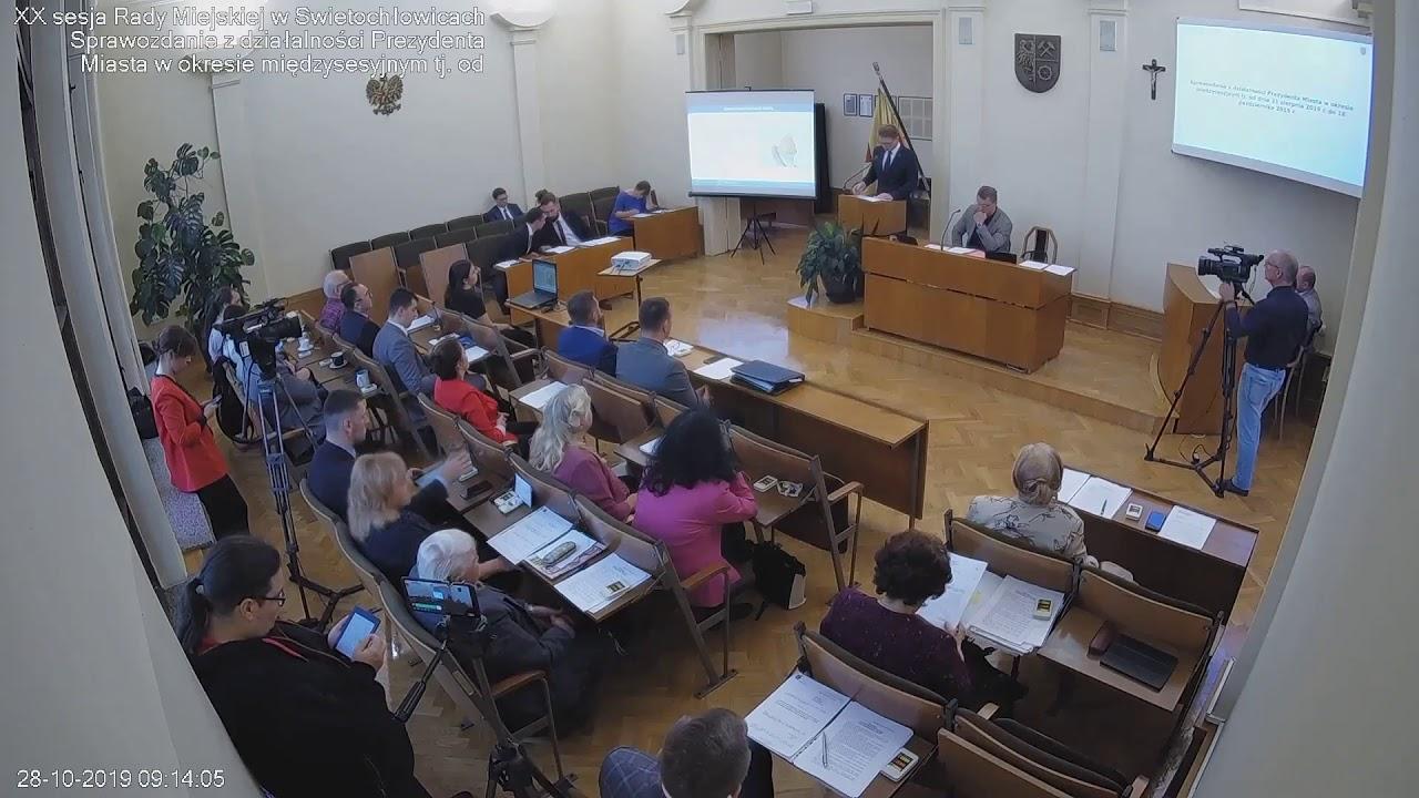 XX sesja Rady Miejskiej 28.10.2019