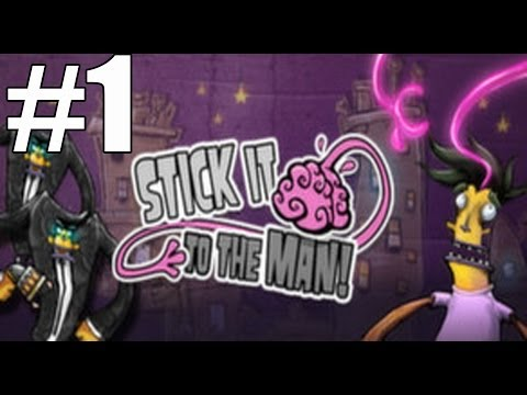 Stick It To The Man Walkthrough Part 1 Chapters 1 - 3 No Commentary Gameplay Lets Play Review