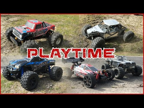 Traxxas X-Maxx, Axial Yeti, Nitro Circus, HPI Trophy Buggy, ECX Ruckus and Traxxas Stampede