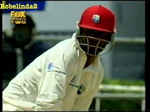 Brian Lara 122 vs Australia 2nd test 2003 - RARE FOOTAGE ON YOUTUBE!