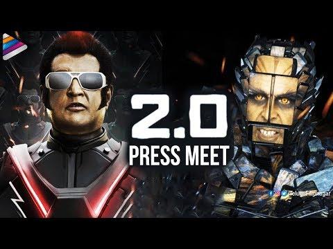 2.0 Movie Press Meet | Rajinikanth | Akshay Kumar | AR Rahman | 2 Point 0 | Telugu FilmNagar thumbnail