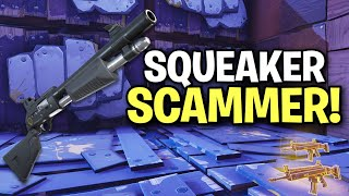 Exposing a Crazy Squeaker Scammer! (Scammer Get Scammed) Fortnite Save The World