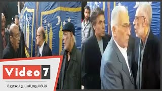 """أشرف عبدالغفور والشرقاوى ومديحة حمدى فى عزاء """"محمد وفيق"""""""
