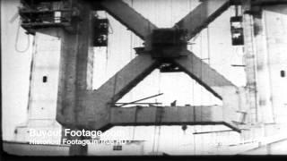 HD Stock Footage Golden Gate Bridge Construction San Francisco Reel 1