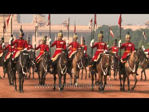 Horse Guards Parade changing of the guards, Rashtrapati Bhavan - Delhi