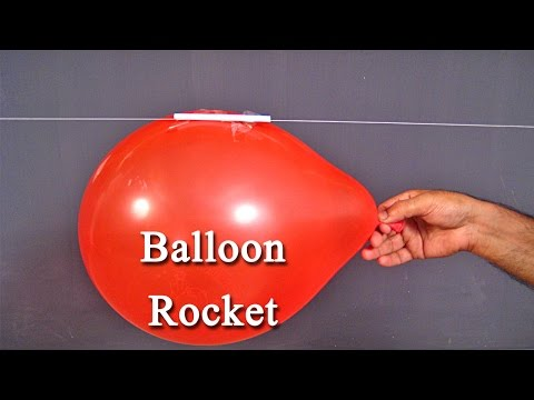 Balloon Rocket - An Easy Science Project For Kids To Understand Newton's Law With Fun