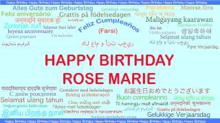 Rose Marie   Languages Idiomas - Happy Birthday