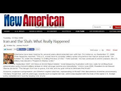 James Perloff - Iran and the Shah: What Really Happened